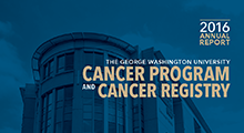 2016 Cancer Program and Cancer Registry Annual Report Cover
