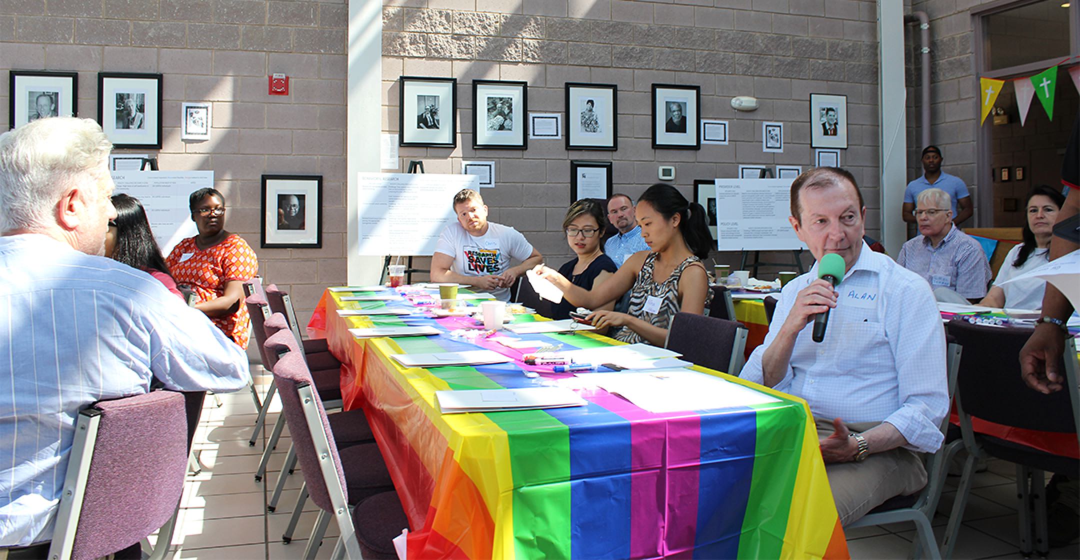 Participants in the LGBTQ+ Research Event