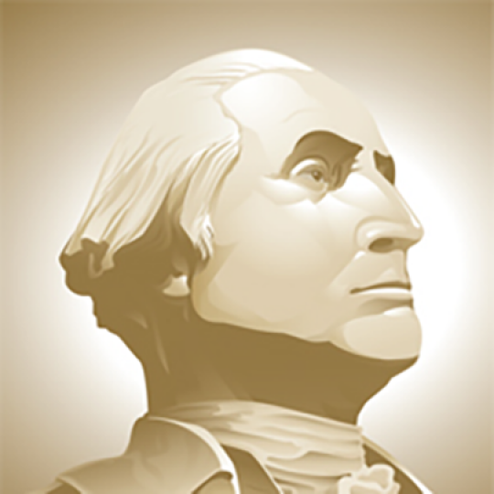 George Washington Bust Illustration