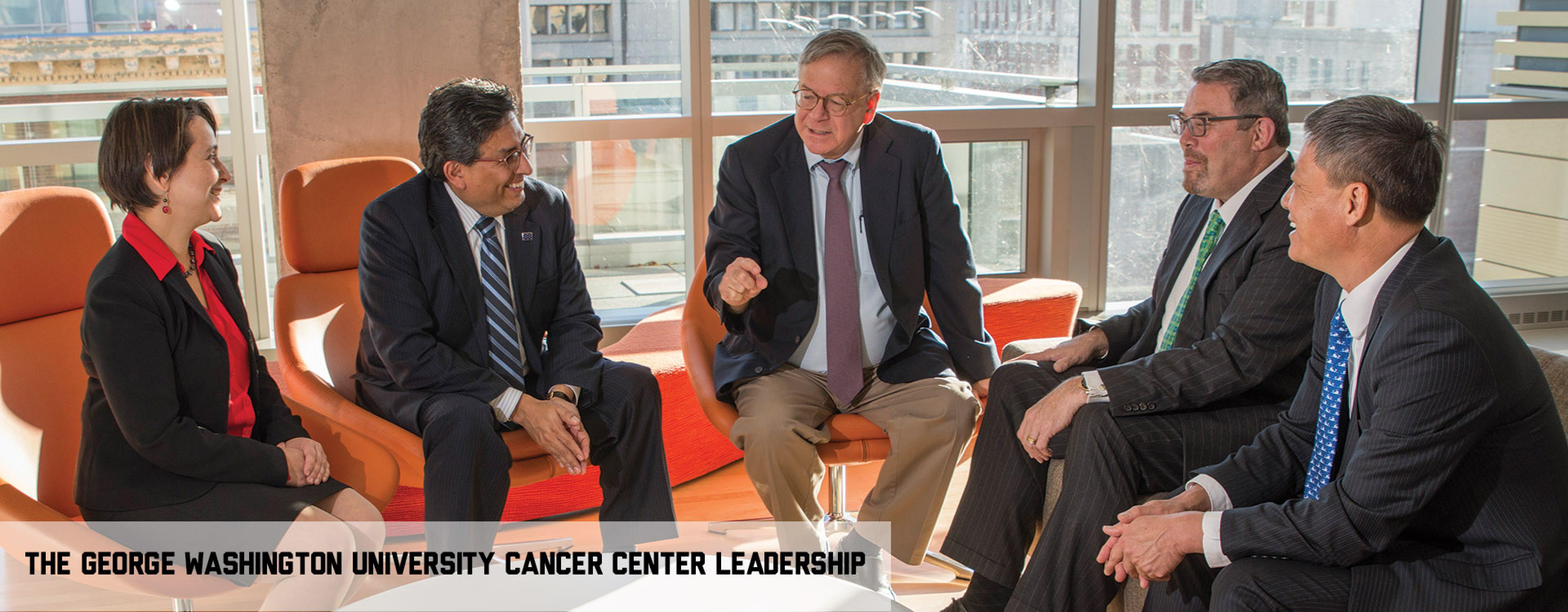 Group photo of GW Cancer Center leaders.
