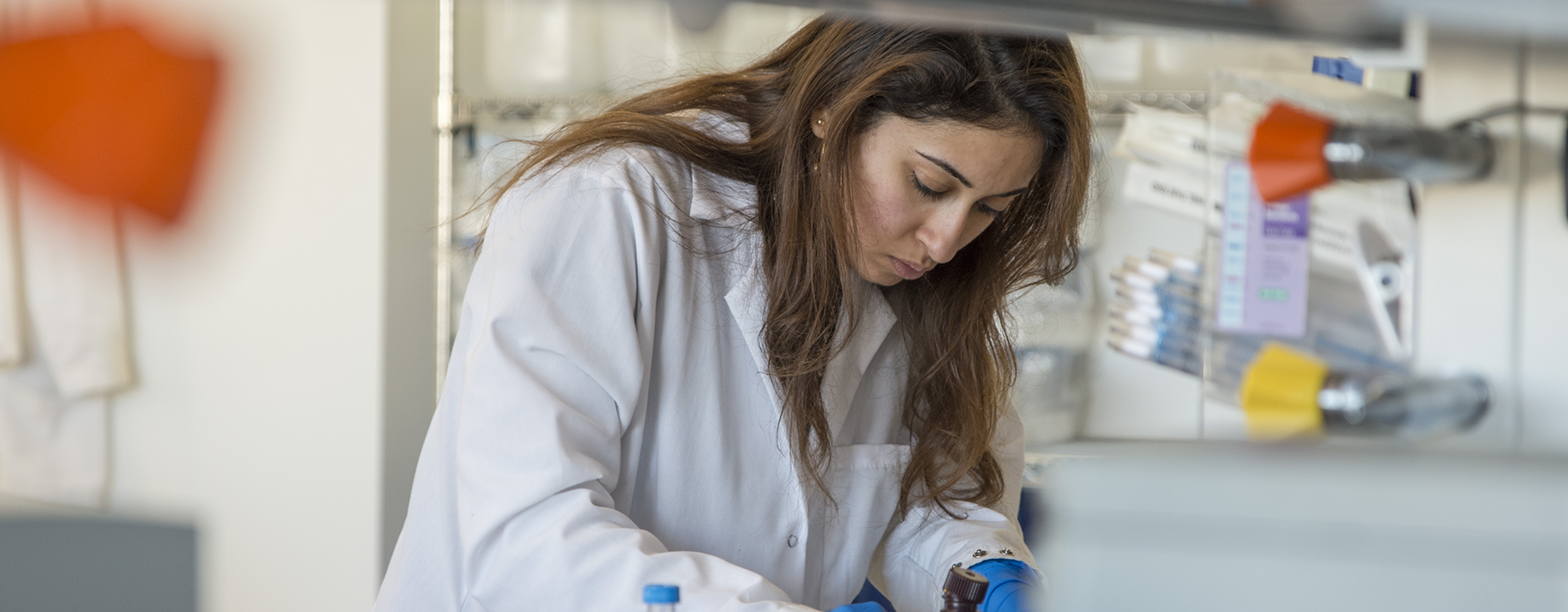 Photo of scientist working in a laboratory