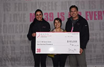 Thumbnail photo $100k donation for Avon Patient Navigator
