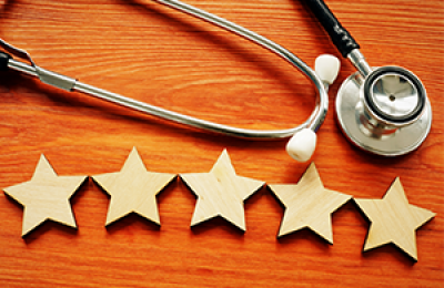 Stethoscope and 5 Stars