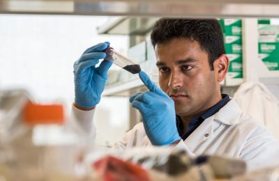 Man conducting research in a lab