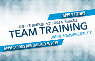 TEAM Training Applications Open